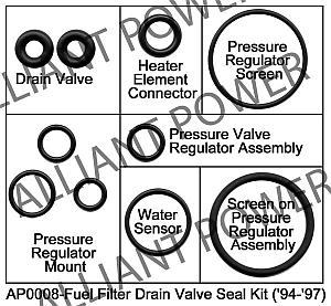 Fuel Regulator Seal Kit 94 97 7 3